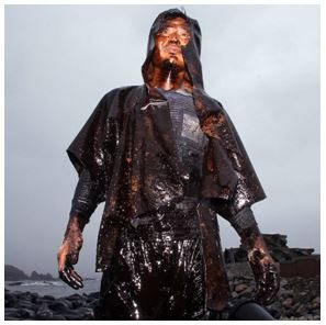 Man covered in Oil