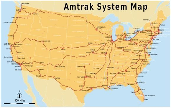 Amtrak Map