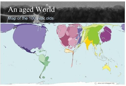 An Aged World Map