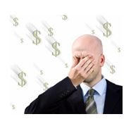 Man-Tired with Dollar Signs