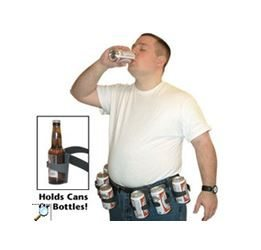 Man with beer belt