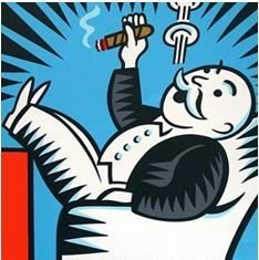 Monopoly guy smoking cigar