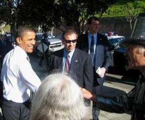 Obama with Security