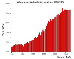 Wheat Yields Chart