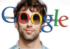Man-Google Glasses