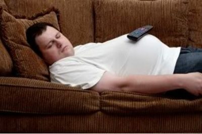 Man Sleeping on Couch