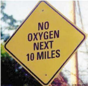 No Oxygen sign