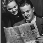 Couple Reading Newspaper