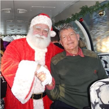 John Thomas with Santa