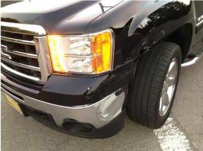 GMC Bumper Damage