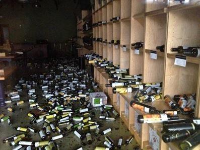 Broken Wine Bottles