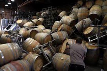Wine Casks Overturned