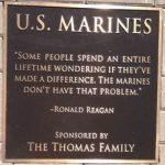 U.S. Marines Plaque