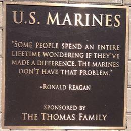 U.S. Marines Plaque