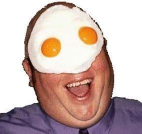 Man Egg on Face