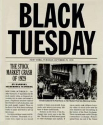 Black Tuesday Newspaper