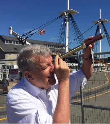 John with Old Ironsides