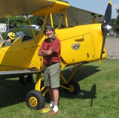 John with Tiger Moth