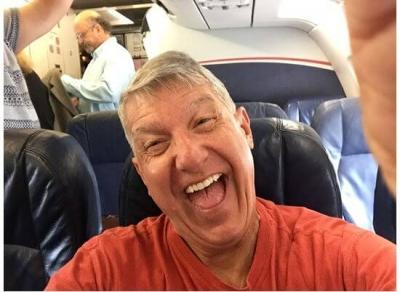 John Pulling Crazy Face in Selfie