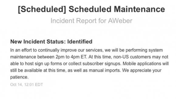 aweber-scheduled-maintenance-10-14